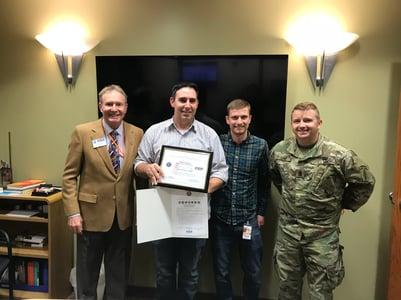 Mitch Military Award photo