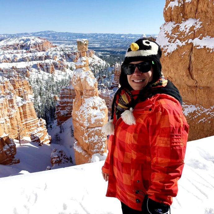 Andrya hiking in Bryce Canyon