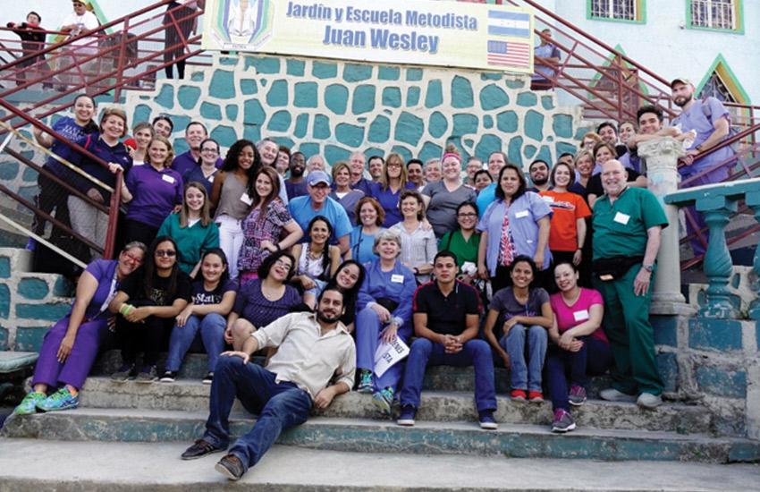 Volunteers from Frankfurt, Kentucky area