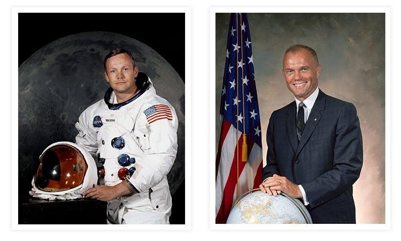 John Glenn and Neil Armstrong