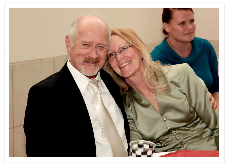 Whitney Jones and wife Karen