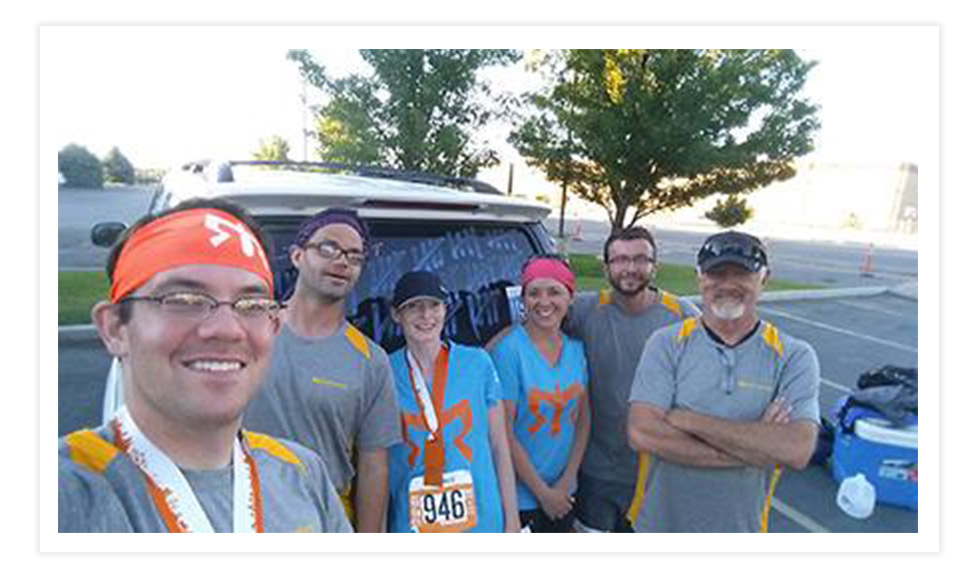 Whitney Jones with his Ragnar relay team in 2014
